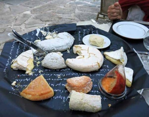 Walking in France: Then a magnificent cheese board