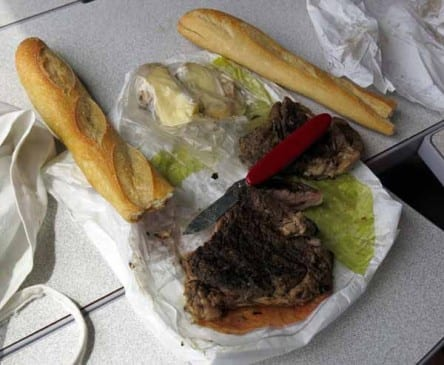 Walking in France: Lunch on the train
