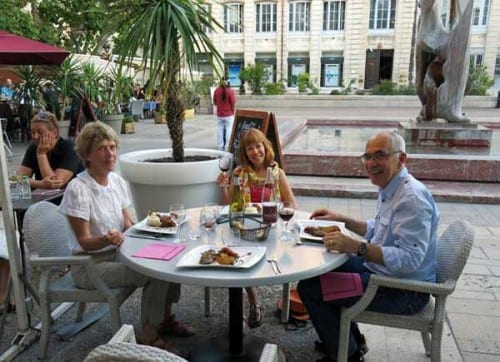 Walking in France: Dining at the Van Gogh in the Place du Marché des Fleurs