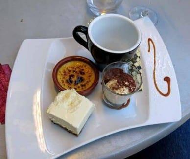 Walking in France: Café gourmand
