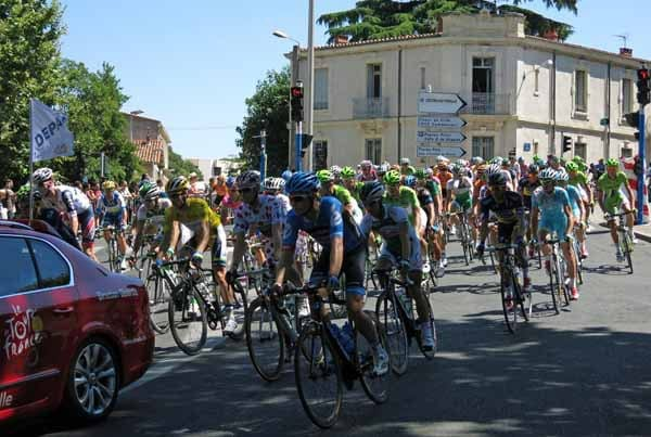 Walking in France: The Tour sweeps past
