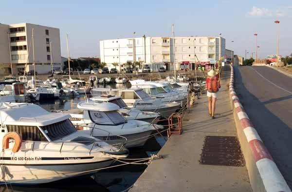 Walking in France: Entering Narbonne Plage