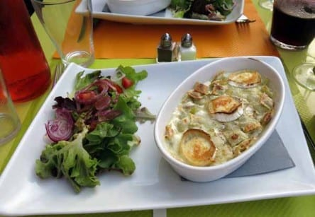 Walking in France: And ravioli with goat's cheese