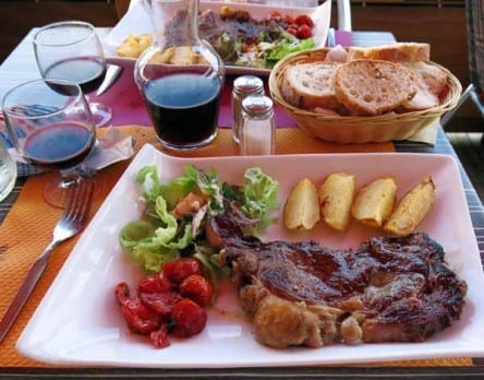 Walking in France: Main courses