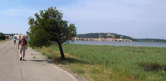 Walking in France: Beside the lagoon of Gruissan
