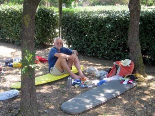 Walking in France: Lunch at the camping ground, Port-la-Nouvelle
