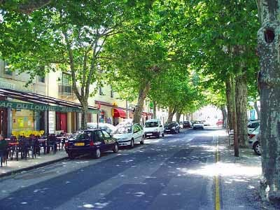 Walking in France: The main square of Villefort