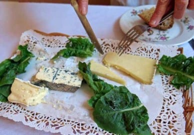 Walking in France: And cheese platter