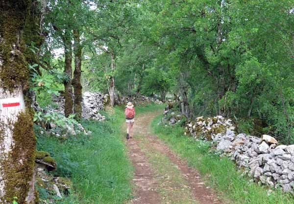 Walking in France: Leaving Gramat on the GR6