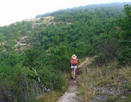 Walking in France: Crossing into the catchment of the river Ouysse