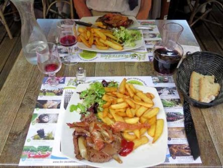 Walking in France: And steaks for mains