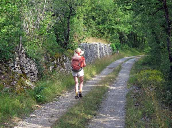 Walking in France: Walled old road