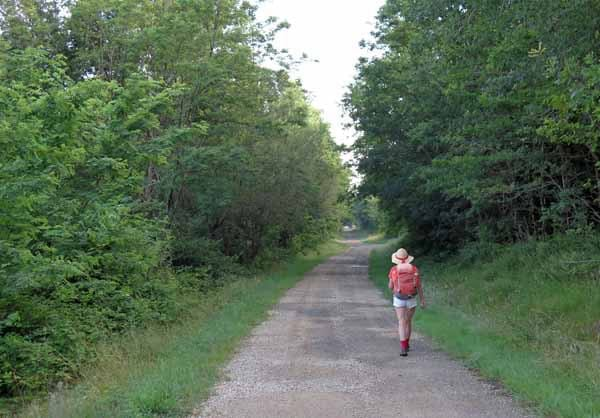 Walking in France: Leaving the river