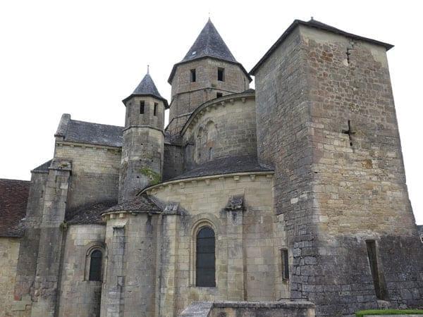 Walking in France: Pilgrim chimney on the church, St-Robert
