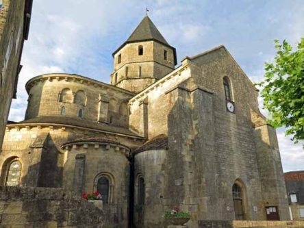 Walking in France: Morning light on the church