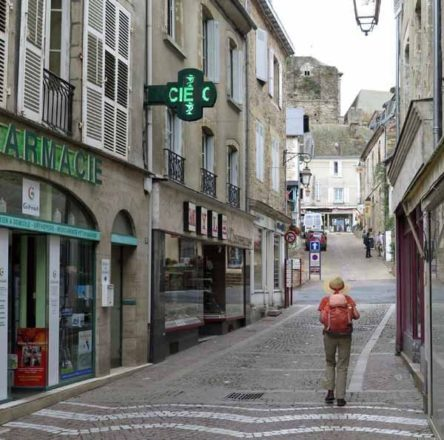 Walking in France: On the way to the camping ground
