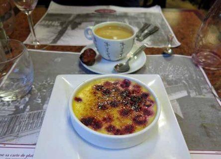 Walking in France: Crème brûlée and café crème