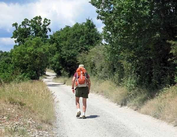 Walking in France: On the GR62 leaving Millau
