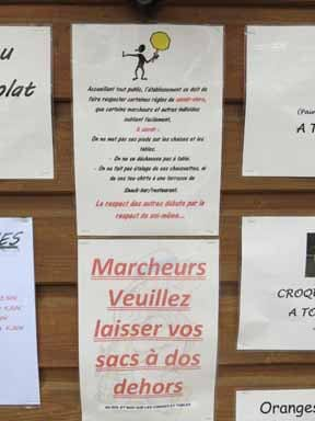 Walking in France: Careful what you do