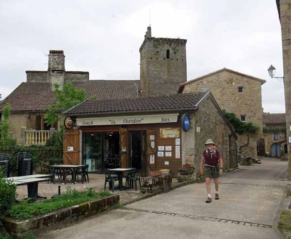 Walking in France: Leaving the bar at Cardaillac