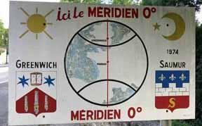Walking in France: Crossing the Greenwich meridian, Parnay