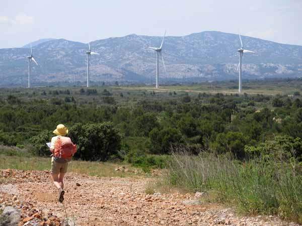 Walking in France: Wind turbines and the Corbières