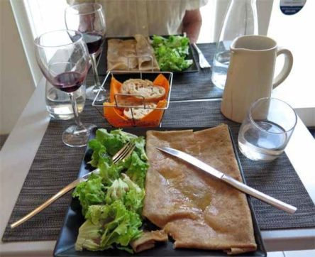 Walking in France: Sarrasines for our main course