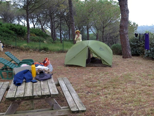Walking in France: Morning in the Bizanet camping ground
