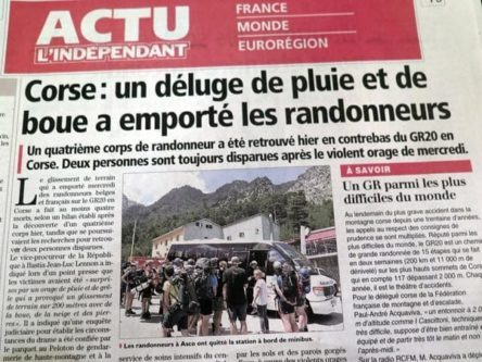 Walking in France: Terrible news from Corsica
