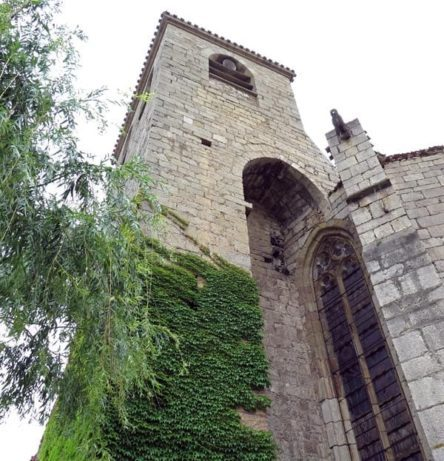 Walking in France: Church tower, Lagrasse