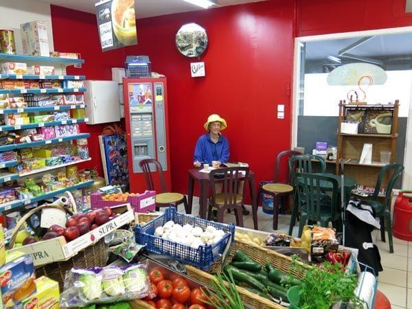 Walking in France: Coffees in the Montlaur supermarket
