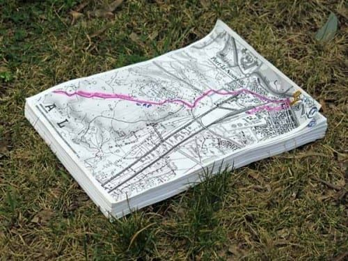 Walking in France: Our home made maps