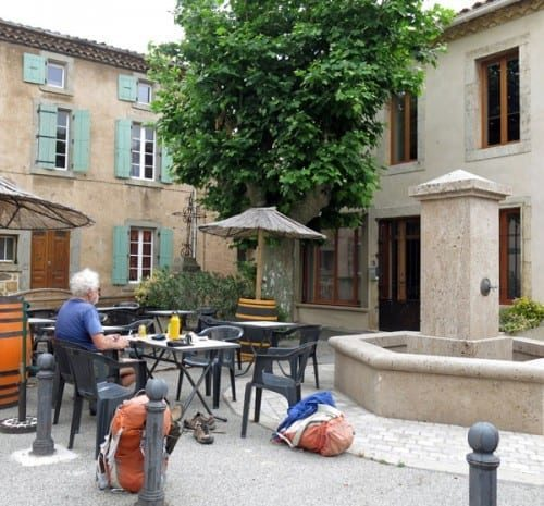 Walking in France: The little square in Boutenac