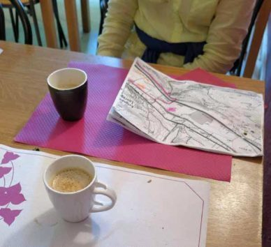 Walking in France: Coffees at Chez Mama