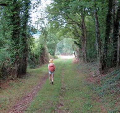 Walking in France: Descending to Marigny-le-Cahouët