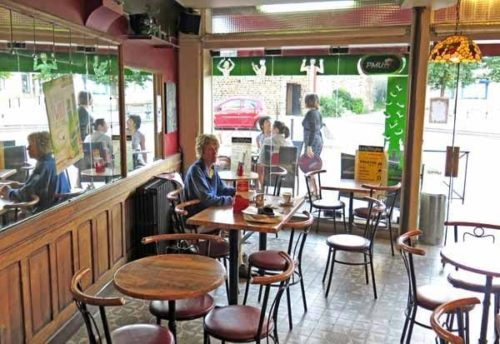 Walking in France: The bar in the main square of Toucy