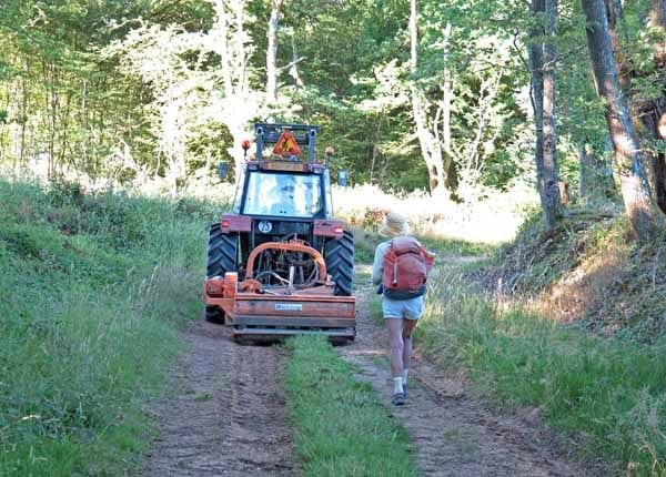 Walking in France: A mowing machine way off the beaten track