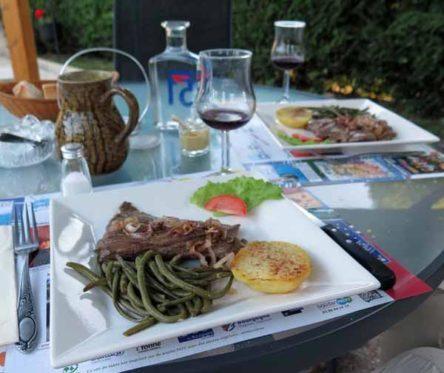 Walking in France: Followed by steak for mains