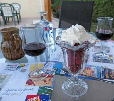 Walking in France: And raspberries and cream to finish