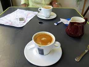 Walking in France: Well earned coffees