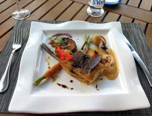 Walking in France: Lamb with more nasturtiums