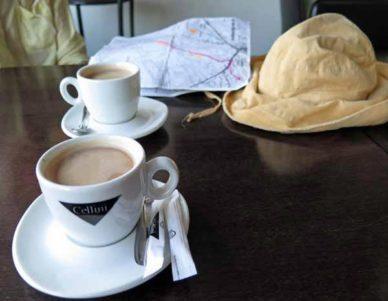 Walking in France: Early coffees in Neuvy