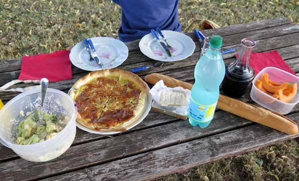 Walking in France: Dinner!