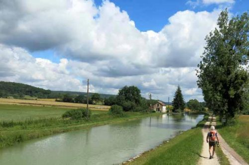 Walking in France: One of the many locks we passed, Canal of Burgundy