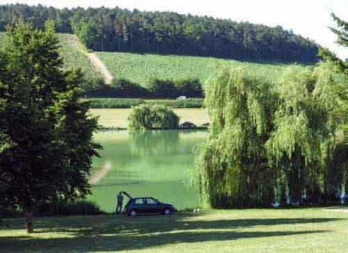 Walking in France: Lake of Beine
