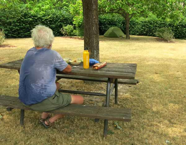 Walking in France: Down but not out, at the Coullons camping ground