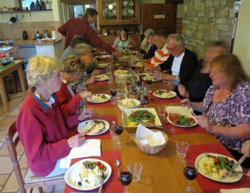 Walking in France: Dinner at the at the Domaine du Bourg, Gannay-sur-Loire