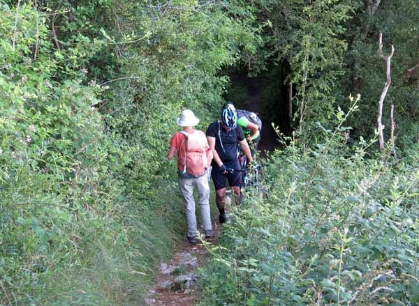 Walking in France: A tight squeeze beside a precipitous drop