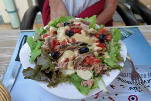 Walking in France: For starters, an enormous salade niçoise