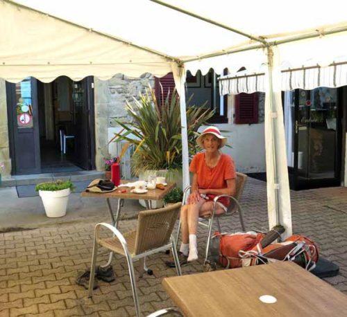 Walking in France: Second breakfast at the Restaurant de la Poste, Poussieu